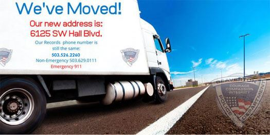 We Moved. New address 6125 SW Hall Blvd.